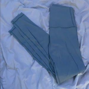 GREY/BLUE SUPER HIGH RISE LULULEMON LEGGINGS
